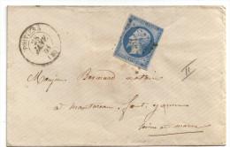 014. LSC N°14 Type2 (variété) - De POITIERS (VIENNE) - 1861 - Postmark Collection (Covers)