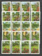 AUSTRALIE. Fleurs De Jardin. Cinq Séries Complètes Oblitérées. Yv.1816a/1816e. Côte  19,00 €uro - Timbres