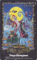 Télécarte NEUVE Japon / MF-1002835 - DISNEY - DISNEYLAND - HOLYDAY NIGHTMARE BEFORE CHRISTMAS - Japan MINT Phonecard Bat - Disney