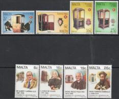 Malta 1997 - Treasures Of Malta & Pioneers Of Education SG1042-1045 & 1054-1057 MNH Cat £5.05 SG2015 - See Description - Malta