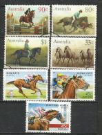AUSTRALIE. Chevaux Et Courses Hippiques.  7 T-p Oblitérés Bonne Qualité - Horses