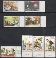 Malta 1997 - Anniversaries & Christmas SG1062-1065 & SG1058-1061 MNH Cat £6.05 SG2015 - See Description Below - Malta