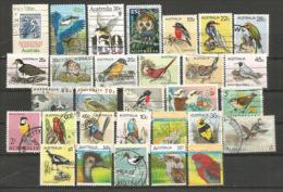 AUSTRALIE.  30 Beaux Timbres Oiseaux D´Australie, Tous Différents - Timbres