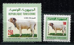 (cl.18 -59) Tunisie** N° 1491 - 1497 (ref. Michel Au Dos) - Bélier Aries  - - Tunisia