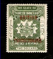NORTH BORNEO 1903 $2 SG 143  LIGHTLY MOUNTED MINT  Cat £45 - North Borneo (...-1963)