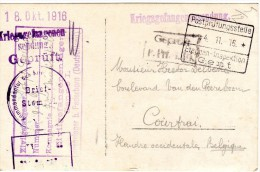Postkaart 1916 Naar Kortrijk - [OC26/37] Staging Zone