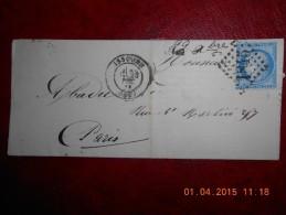 TT_16_lettre De Issoire Sur N°60.a Voir. - Storia Postale
