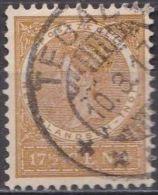 Ned. Indië: TEGAL Op 1903-08 Koningin Wilhelmina 17½  Cent Bruingeel NVPH 51 - Indes Néerlandaises