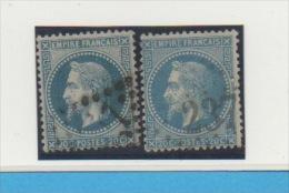 FRANCE - Yvert N° 29  A + B - - 1863-1870 Napoleone III Con Gli Allori