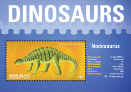 UNION IS. OF S.V  IGPC # 1423 S ; MINT N H STAMPS OF DINOSAURS - St.Vincent & Grenadines