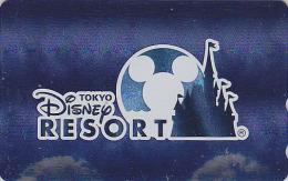 Télécarte Métal ARGENT NEUVE Japon / 110-211382 - DISNEY RESORT -  Tête De MICKEY - Japan MINT SILVER Phonecard - Disney