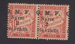 French Syr, Scott #J11, Mint Never Hinged, French Postage Due Surcharged, Issued 1921 - Timbres-taxe