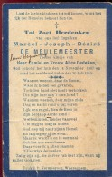 Doodsprentje Devotie - Marcel De Meulemeester - 1907 - 1910 - Waregem - Obituary Notices