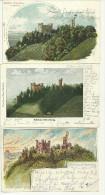 Allemagne CPA  Ortenberg 3 Cartes Litho Schloss Cachet Zug Konstanz Offenburg 1903 - Offenburg
