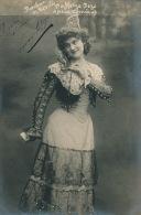 """FEMMES - FRAU - LADY - SPECTACLE - ARTISTES 1900 - OPERA - JEANNE DAFFETYE DEZE Dans """"BARBIER DE SEVILLE"""" (dédicacée) - Oper"""