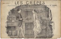 """Partition """"Les Crêpes"""" - Paroles  Villemer-Delormel Musique Chatau - Partitions Musicales Anciennes"""