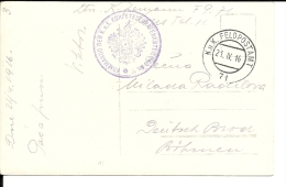 Carte Postale  Autriche  K U K Feldpost N° 71 Corps Télégraphe N° 11  (210/211) - Briefe U. Dokumente