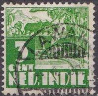 Ned. Indië: LAWANG Op 1934-37 Karbouw 3 Ct Groen NVPH 189 - Indes Néerlandaises