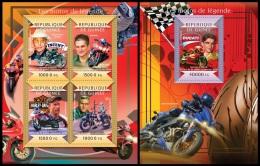 gu15115ab Guinea 2015 Legendary motorcycles 2 s/s