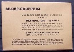 1936 OLYMPIADE - 50 Bilder 8x12cm - Ungeöffnetes Originalpaket - Bilder-Gruppe 53 - Sammelwerk 13 - Trading-Karten