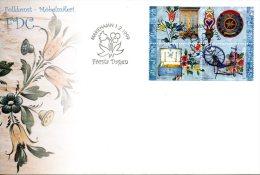 ALAND. N°151-4 De 1999 Sur Enveloppe 1er Jour. Art Populaire. - Aland
