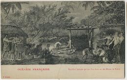 James Cook Invité Par Les Chefs D' Atehura A Un Sacrifice Humain Maree De Tahiti Repro Tableau J. Webber Edit Homes - Tahiti