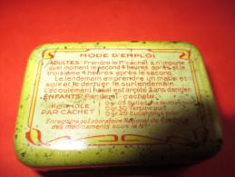 2 Petites Boites Métalliques à Cachets/Le Reniol/Pharmacie Revel /Rue St Lazare/Paris//vers 1920-30   BFPP36 - Boîtes