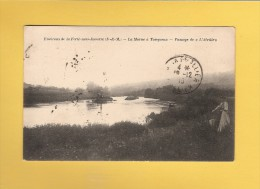 * CPA..dépt 77..TANQUEUX  : La Marne - Passage De L´ Abeille..Scan A ( Environs De La Ferté Sous Jouarre ) : Voir  Scans - Autres Communes