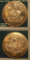 M_p> Medaglia Federico II 17 8 1991 FRIEDRICH DER GROSSE - Altri