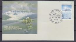 AAT 1986 Antarctic Treaty 1v FDC Ca Sydney 17 Sep 1986 (F3164) - FDC