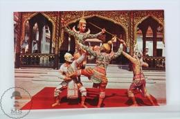 Thailand Postcard - Khon, A Masked Play, Thai Classical Dance - Tailandia