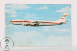 Iberia Spanish Airlines Advertising Postcard - Douglas DC- 8 Turofan Airship/ Airplane - Dirigibili