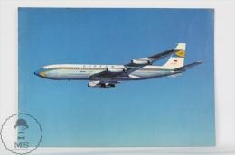 Lufthansa Airlines Advertising Postcard - Boeing 707 Jet  Airship/ Airplane - Dirigibili