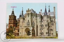 Architecture Topic Postcard - Astorga Antonio Gaudi  Palace - Museum Of The Roads - Iglesias Y Catedrales