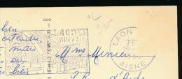 * Flamme LAON, AISNE (1963), Ville D'Art, Sur Carte Postale Entière (2 Scans) - Marcophilie (Lettres)