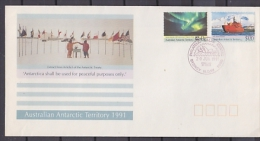 AAT 1991 Antarctic Treaty 2v FDC Ca Sydney 20 Jun 1991 (F3167) - FDC