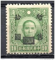 China  Chine : (963) Variété P13.5 Occupation Japanaise--NS SG63**(Pas Encore Enregistré Dans Le Cat. SG) CAT.Chan JC51a - 1943-45 Shanghai & Nanjing