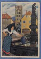 Carte Postale Charles Homualk Fontaine De Ribeauvillé Trés Beau Plan - Homualk