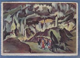 Carte Postale Charles Homualk Grottes De Bétharram  Le Temple Des Colonnes Trés Beau Plan - Homualk