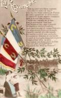 411Eb     Militaria Propagande Patriotique La Revanche Drapeaux Bataillons De Soldats Alsacienne - Patriotiques