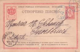 Bulgarien Ganzsache 10 C. Gest. -  Ansehen!! - Entiers Postaux