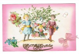 Fantaisie Bonne Année   Decoipis  Fleurs Colombes - Nouvel An