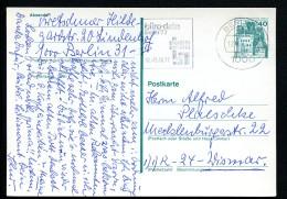 BERLIN P104 Postkarte Gelaufen Berlin-Wismar 1977 - [5] Berlin