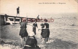 76 - SAINT AUBIN SUR MER - Baigneurs - 2 Scans - Autres Communes