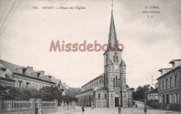 76 - YPORT  -  Place De L'Eglise - Dos Vierge - 2 Scans - Yport