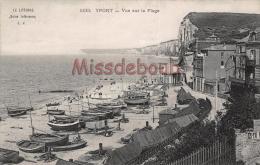 76 - YPORT  -  Vue Sur La Plage - Dos Vierge - 2 Scans - Yport