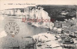 76 - YPORT  - La Plage Et La Falaise D'Amont - 2 Scans - Yport