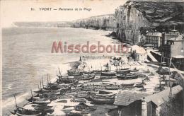 76 - YPORT  - Panorama De La Plage - 2 Scans - Yport