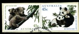 AUSTRALIA - 1995  ENDANGERED SPECIES  PAIR  FINE USED - 1990-99 Elizabeth II