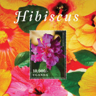 UGANDA  IGPC # 1404 S  MINT N H STAMPS OF FLOWERS ; HIBISCUS - Uganda (1962-...)
